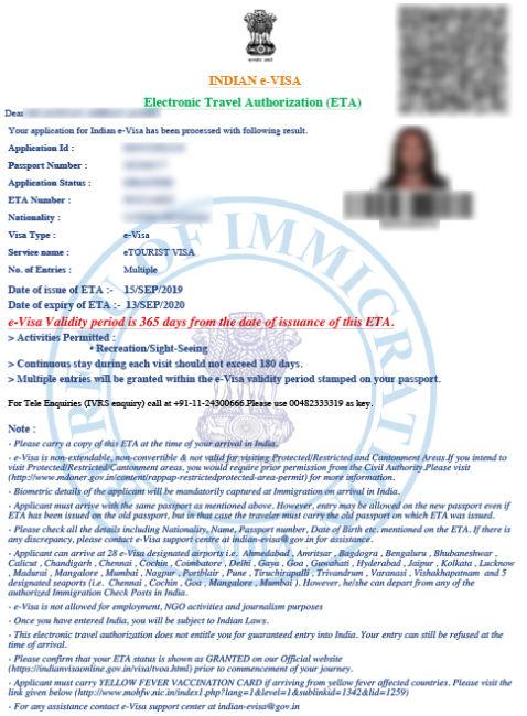 Visa Twristiaeth India