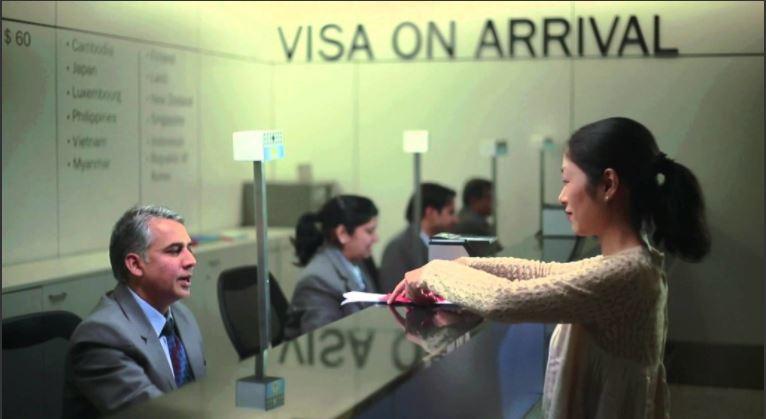 Intian e-Visa saapuessa